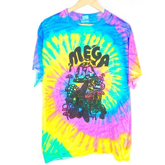26d55c8b Vintage Shirts   90s Retro Tie Dye Mega 64 Mushroom Tshirt Large ...